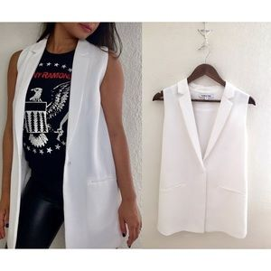 Elizabeth & James | Garnet White Sleeveless Blazer